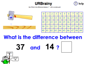 Use 'What Is The Difference Between..?' with a Number Line