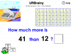 Use 'How Much More is...' with a Number Grid