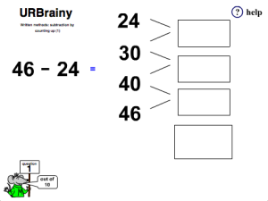 Preview of game  Check Subtraction with Addition