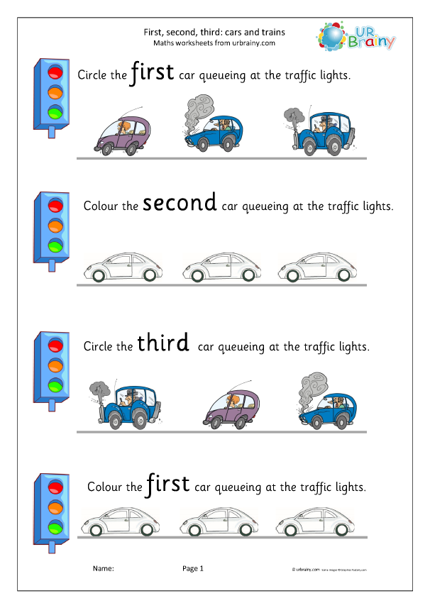 Preview of 'First second and third: cars'