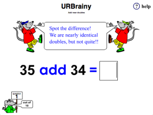 math worksheet : add near doubles doubling and halving maths game for year 3 age 7 8  : Near Doubles Addition Worksheet
