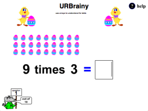Preview of game  Use Arrays to Understand the Three Times Table
