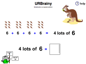 Preview of game  Multiplication as Repeated Addition
