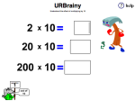 Understanding the Effect of Multiplying by Ten