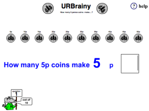 Preview of game  How Many Five Pence Coins?