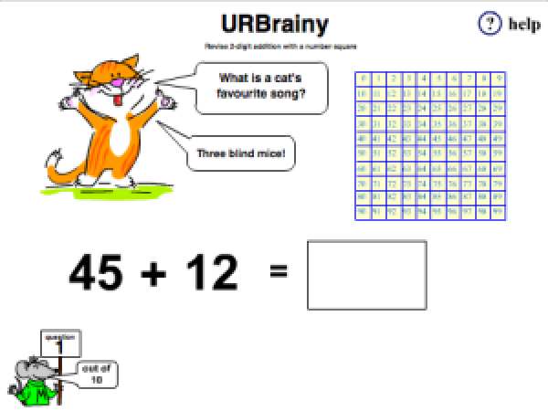 Preview of 'Revise 2-digit Addition with a Number Square'