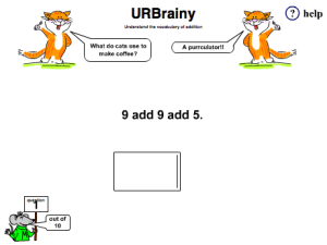 Preview of game Understand the Vocabulary of Addition