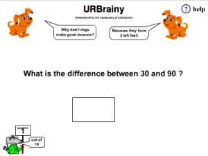 Preview of game Understand the Vocabulary of Subtraction
