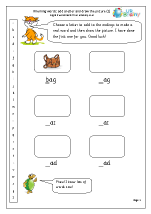 Rhyming words: add a letter (1)