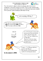 Short Multiplication: 3-digit numbers multiplied by 1-digit.