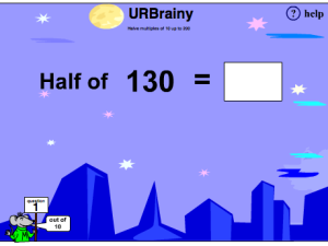 Halve Multiples of 10 up to 200