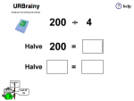 Divide by 4 by Halving and Halving