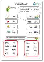Matching Rhyming Words (a)