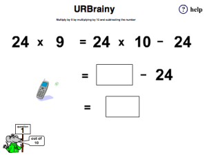 Multiply 2-digit numbers by 9