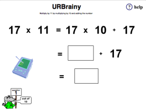 Preview of game Multiply 2-digit numbers by 11 mentally