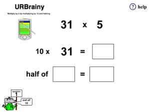 Multiply by 5 by Multiplying by 10 and Halving