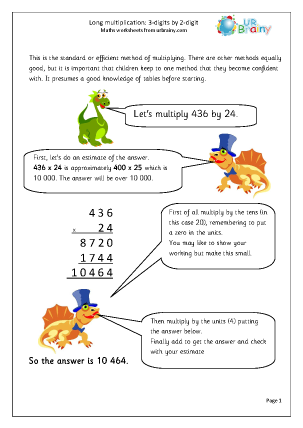 Long Multiplication: 3-digit by 2-digit