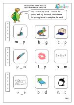 Missing Vowels in CVC Words (2)