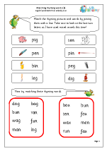 More Matching Rhyming Words (1)