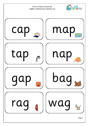 Preview of worksheet Picture Word Cards (3)