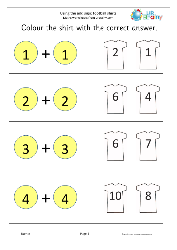 Preview of 'Using the add sign football shirts'