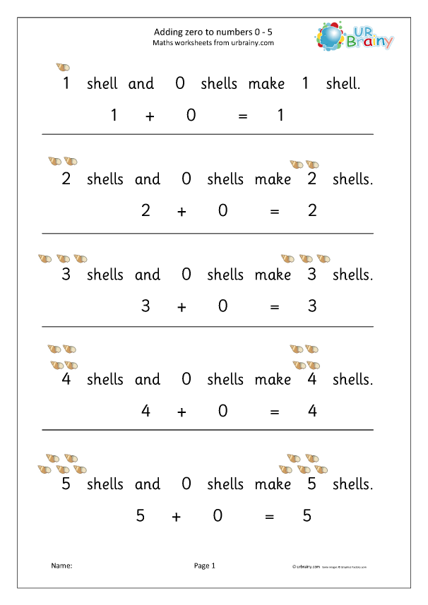 Preview of 'Add zero to numbers from 0 to 5 shells'