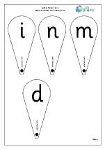 Letter Fans: Set 2. i n m and d
