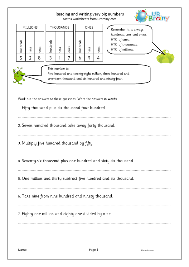 Preview of 'Reading and writing very big numbers'
