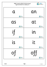 High Frequency  Words (2) Large