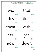 High Frequency  Words (3) Large