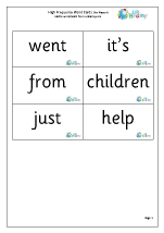 High Frequency  Words (4) Large
