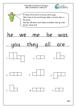Tricky Word Activities (5)