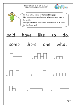 Tricky Word Activities (6)