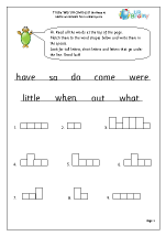 Tricky Word Activities (8)