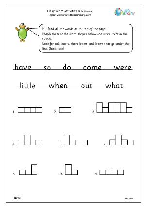 Tricky Word Activities (8)