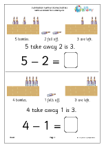Subtraction Number Stories - Bottles