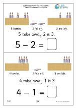 subtraction number stories bottles subtraction maths worksheets for later reception age 4 5. Black Bedroom Furniture Sets. Home Design Ideas