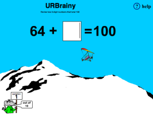 Preview of game  Revise Two Digit Numbers that Total 100