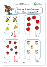 take away 2 subtraction maths worksheets for later reception age 4 5. Black Bedroom Furniture Sets. Home Design Ideas
