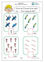 take away 3 subtraction maths worksheets for later reception age 4 5. Black Bedroom Furniture Sets. Home Design Ideas