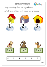 Using the Subtraction Sign - Dogs