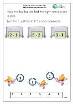 Using the Subtraction Sign - Goals