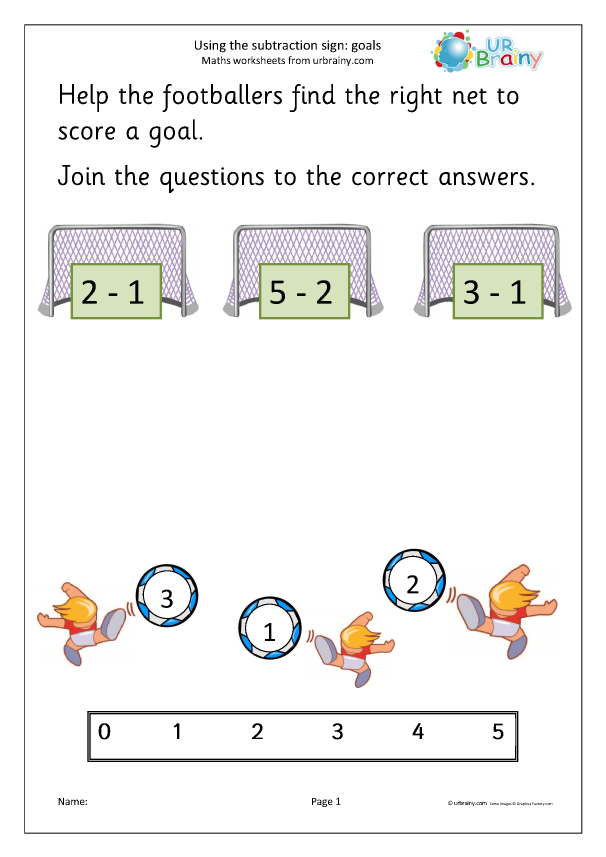 Preview of 'Using the subtraction sign - goals'