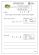 Addition: number stories