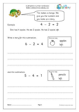 Subtraction Number Stories