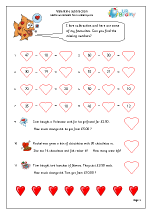 Valentine's Day: subtraction (year 3)