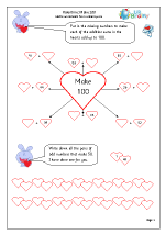 Valentine's Day:  make 100