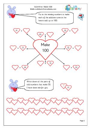 Valentine's Day:  make 100