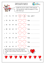 Valentine's Day: number sequences (year 5/6)