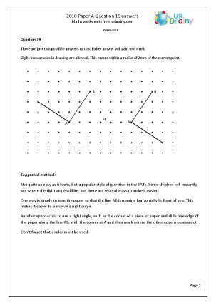 19 Answers and Suggested Method